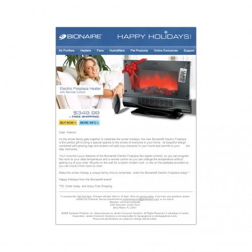 bionaire email design
