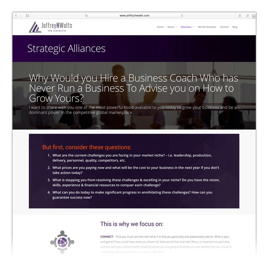 jeffrey h watts strategic alliances landing page