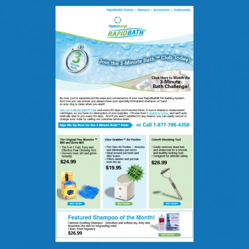 rapid bath email design