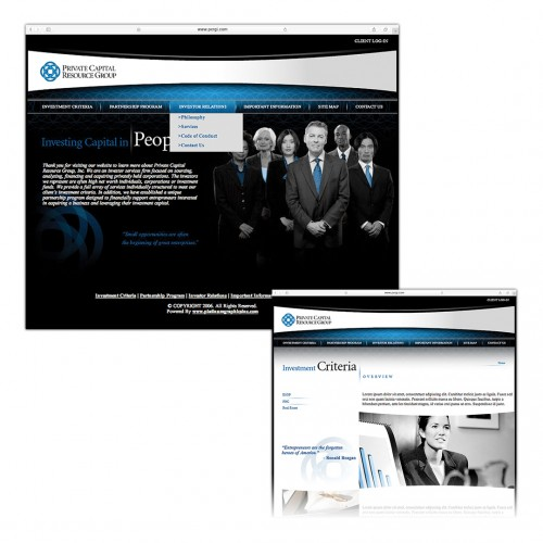 Private Capital Resource Group Website Design