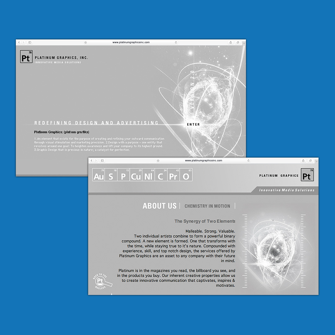 www.platinumgraphicsinc.com Website Design