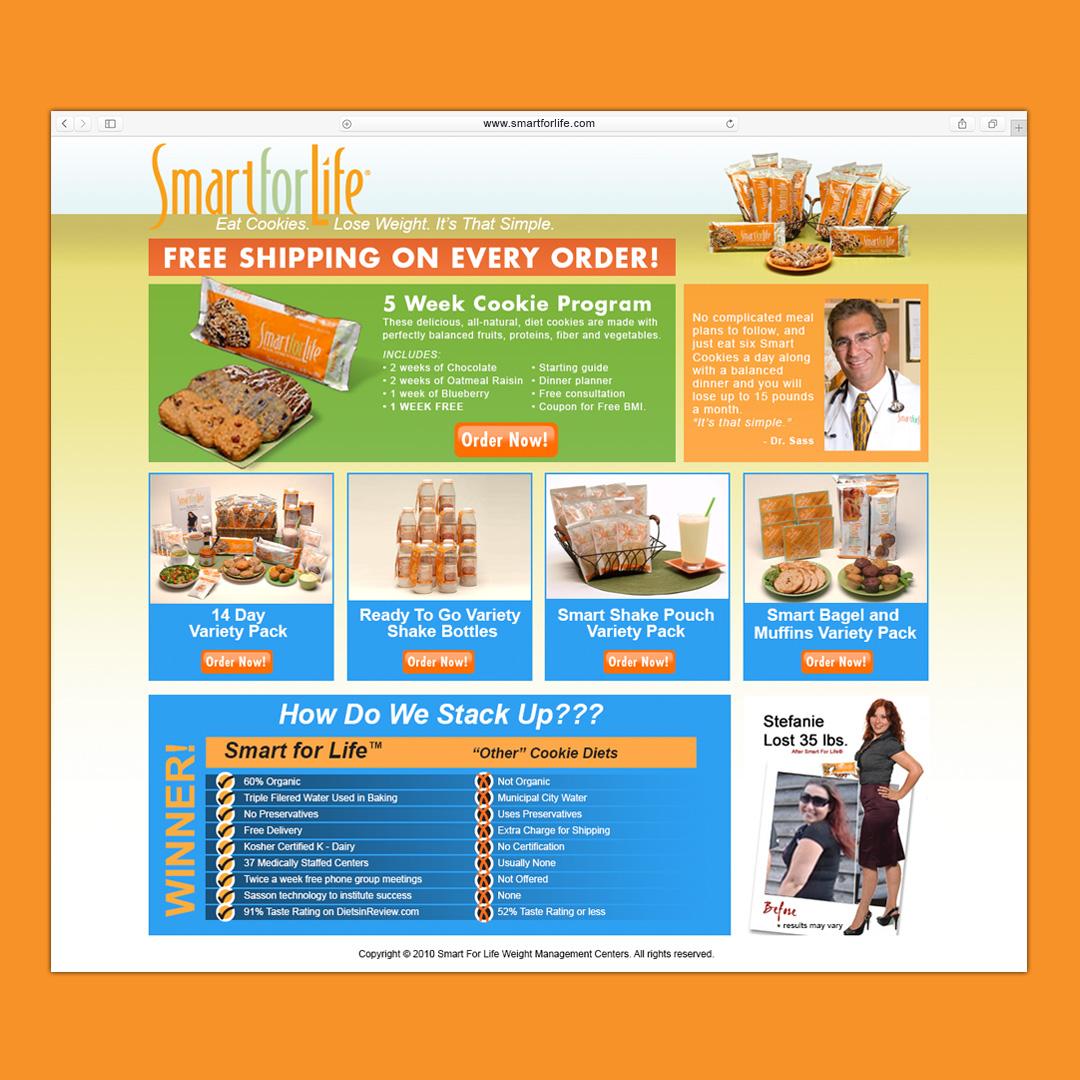 www.smartforlife.com Landing Page Design