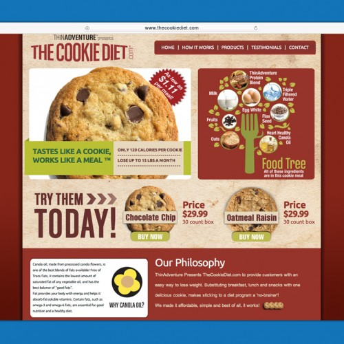 www.thecookiediet.com Landing Page