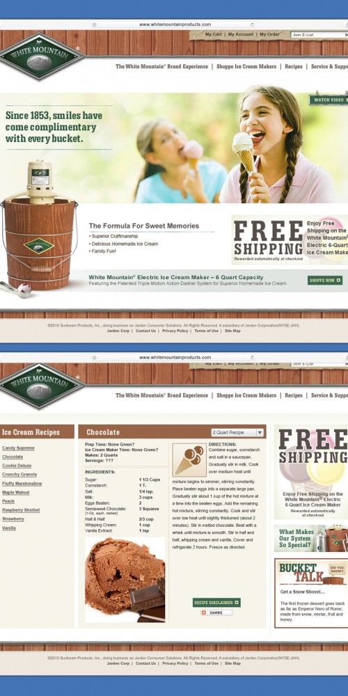 www.whitemountainproducts.com Website Design