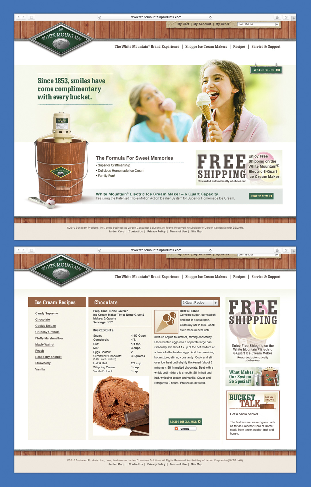 www.whitemountainproducts.com Website Design