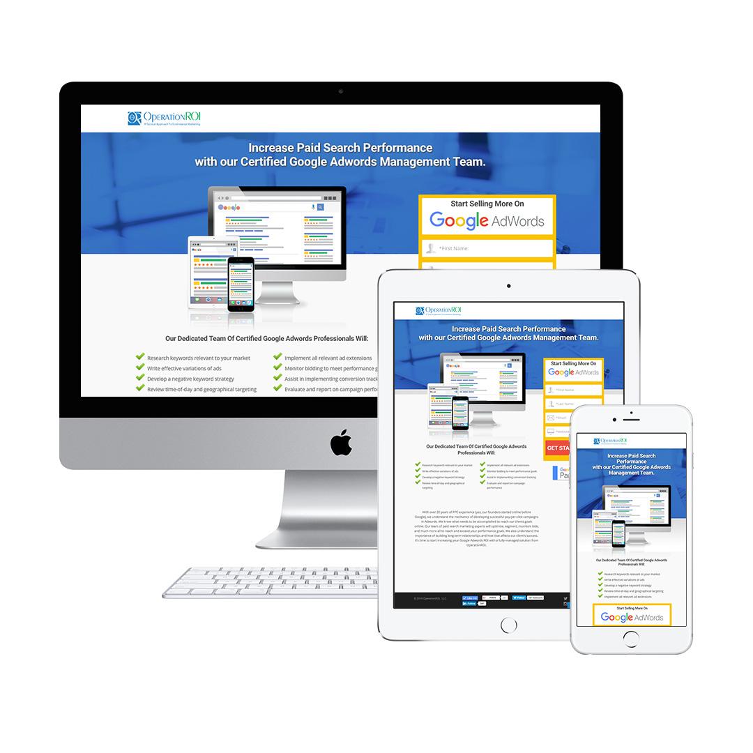 Landing Page Design Google Adwords